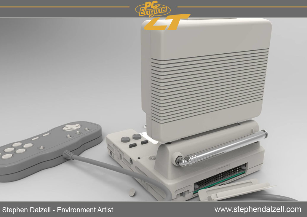 Pc engine LT console - STEPHEN DALZELL ENVIRONMENT ARTIST
